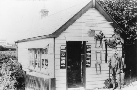 Sea Street: The Chalet with the proprietor, Henry Sproston, standing outside