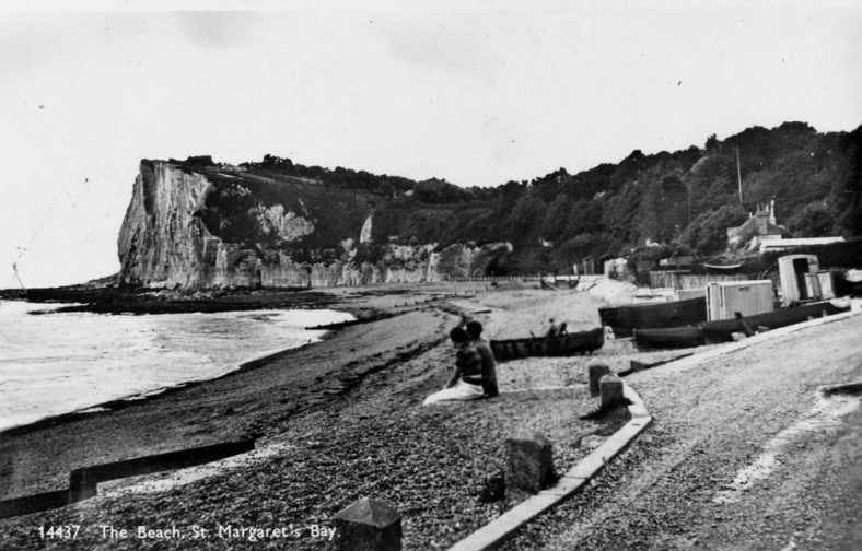 Ness Point from the beach. c1932