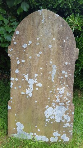 Gravestone of ADAMS Sarah Jane 1892; THURLOW Robert 1894