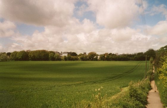 General view looking towards the church from Droveway Gardens. 5 May 2004