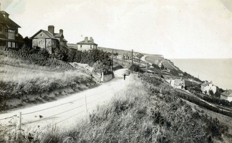 View down Bay Hill to Hotel Road. c1900