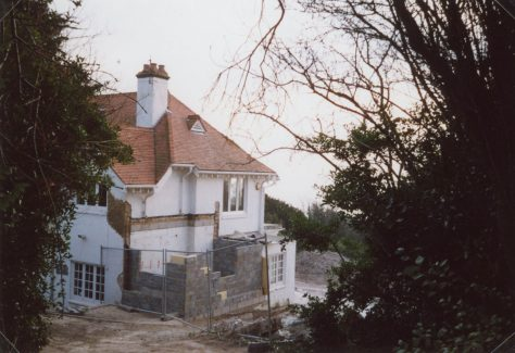 The Gatehouse, Salisbury Road. Extension being built. 31 December 2008