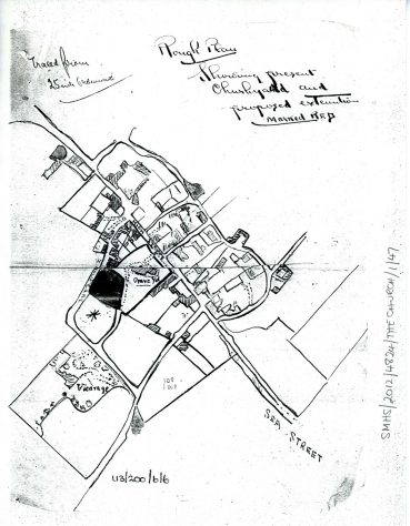 A 'Rough Plan' of Churchyard Land. Late 19th century