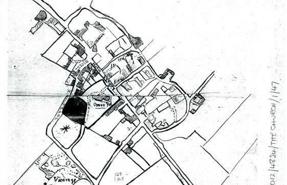 A 'Rough Plan' of Churchyard Land. Late 19th century