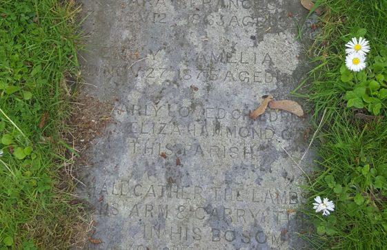 Gravestone of MARSH …….1775