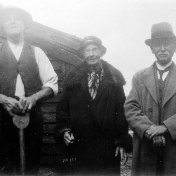 People visiting or working at Bockhill Farm. c1930