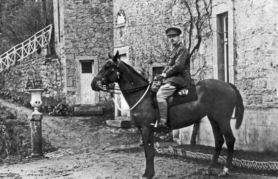 Cuthbert Hancock astride his horse, 15th December 1918