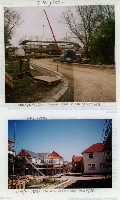 Construction work under way on the Ash Grove affordable building site at the rear of Townsend Farm. 2004