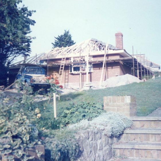 'Pinehurst' Salisbury Road. Building site, and nearing completion. 1985