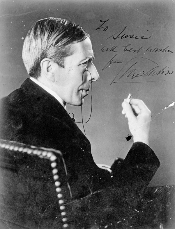 Signed photo of George Arliss dedicated to Susie Crees, a village resident who worked for him in the USA and Canada as well as in the village.