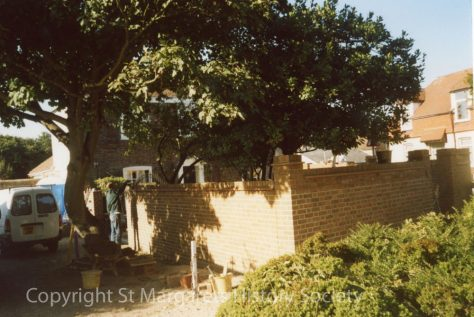 Bay Tree Cottage, High Street.  Wall under construction. 2003