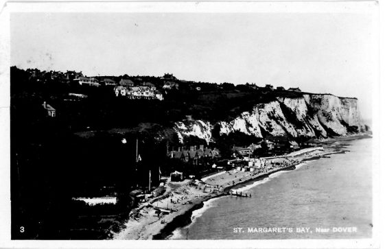 St Margaret's Bay from Ness Point. postmark 1929