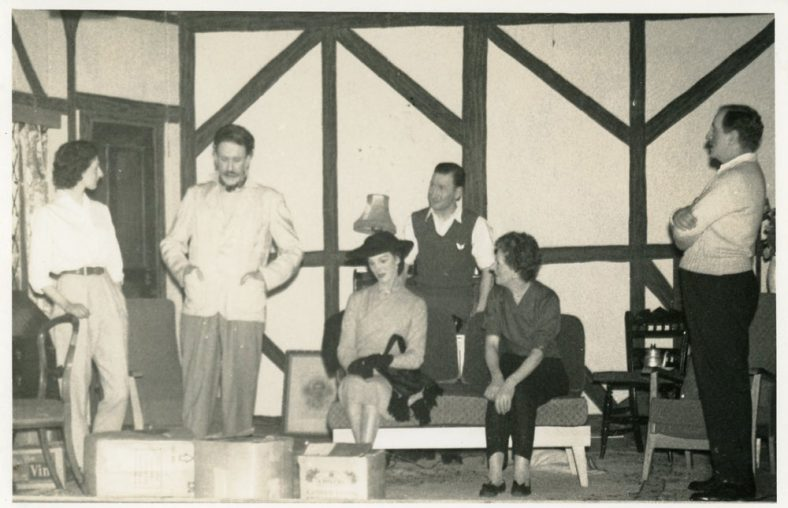 Scenes from the St. Margaret's Players Production of 'Queen Elizabeth Slept Here' 1958