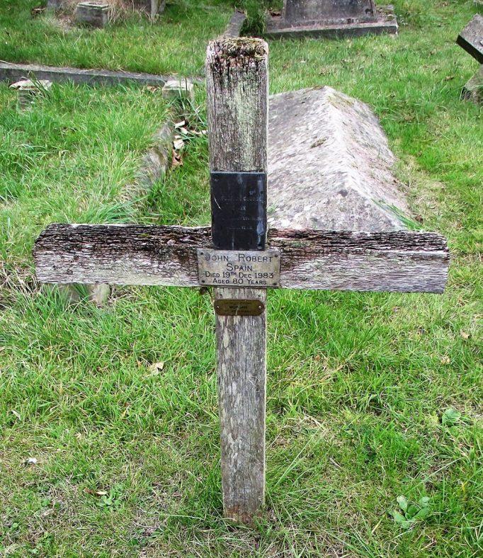 Gravestone of MORGAN Frederick George 1927; SPAIN John Robert 1983 | Dawn Sedgwick
