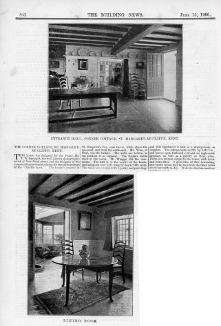 Corner Cottage, Granville Road. The Building News, 15th June 1906