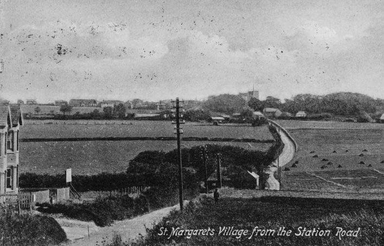 Two postcards showing Cliffe Place in the dip in Station Road. One postmarked 5th August 1913