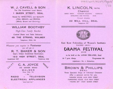 WI Drama Festival 1959