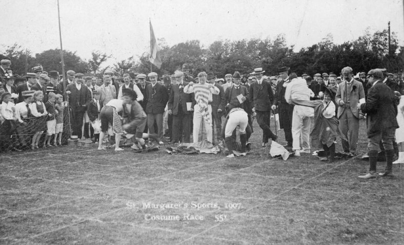 Costume Race at St Margaret's Sports Day. 1907