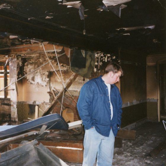 The aftermath of the Granville Hotel fire, Hotel Road. 10 March 1995