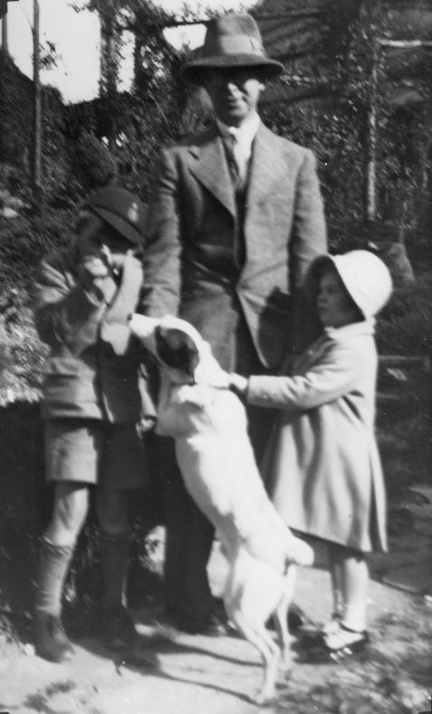 Family group with dog