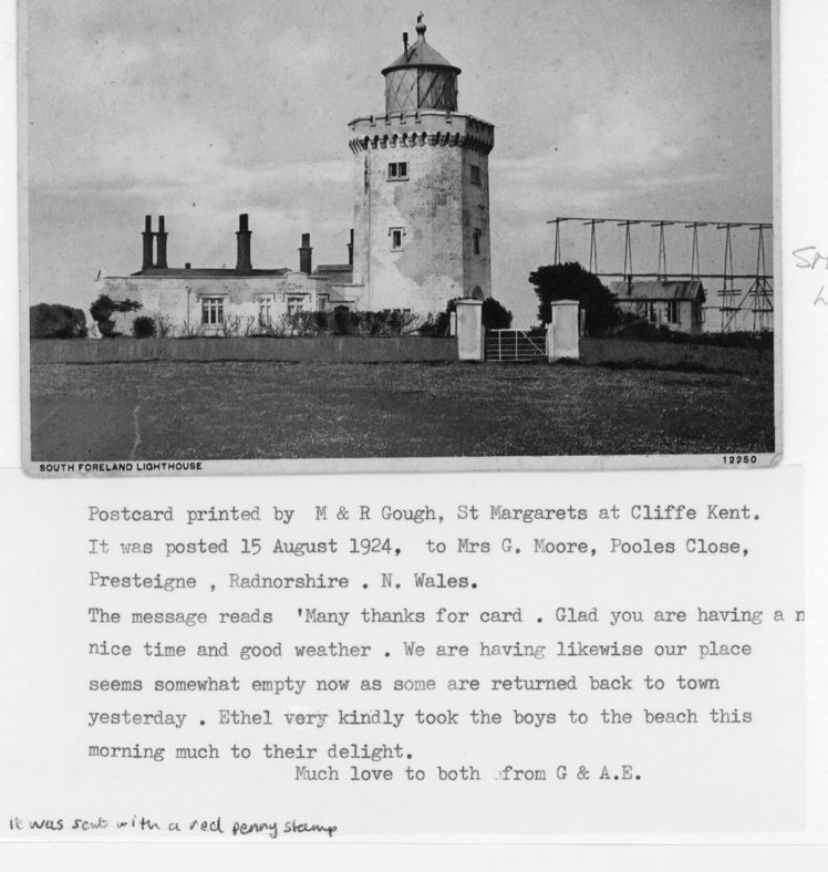 Marconi's Rotating Beam Transmitter at South Foreland Lighthouse. 1924