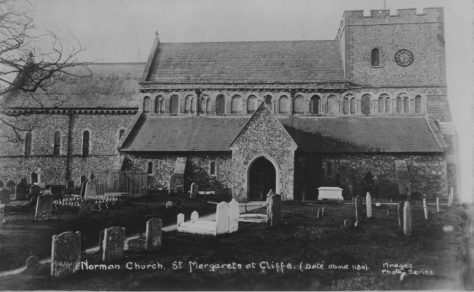 'The Norman Church, St. Margaret's-at-Cliffe (date about 1130)'. c1900