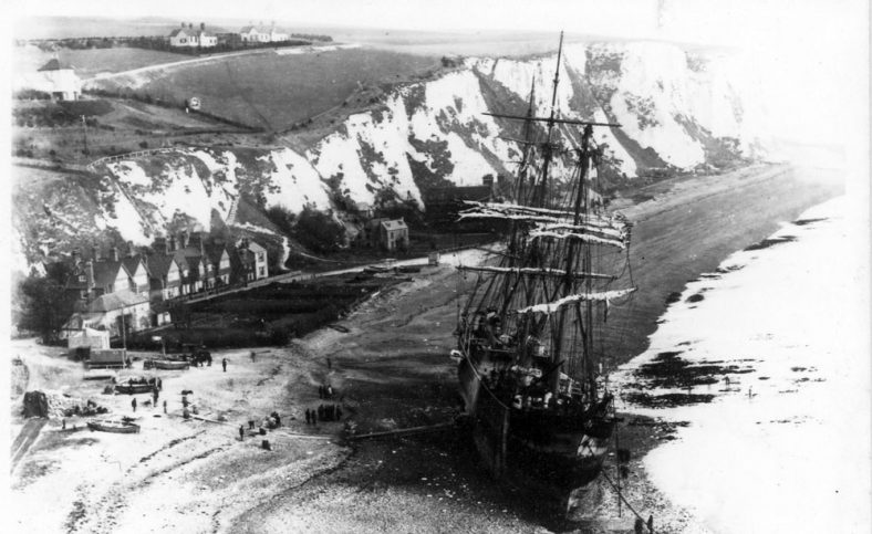 Beached Firth of Cromarty and Adcock's Villas. 1894