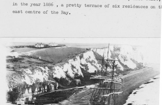 Beached Firth of Cromarty and Adcock's Villas. c1894
