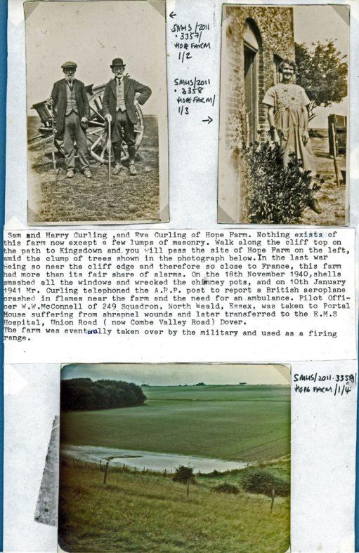 Sam, Harry and Eva Curling and Hope Farm c.1920
