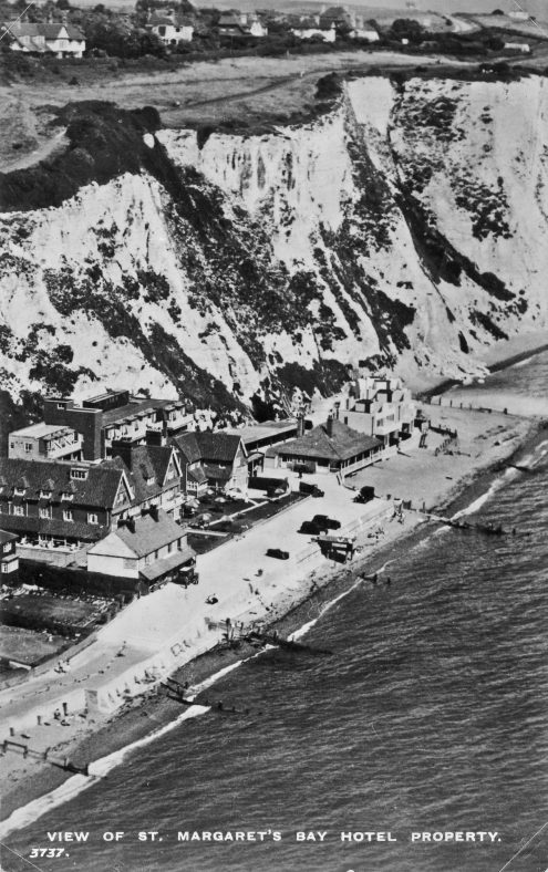 Aerial view St Margaret's Bay Hotel. pre 1939; St Margaret's Bay from The Leas. c1950s