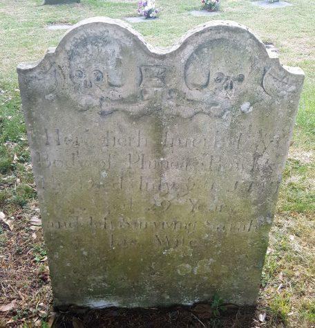 Gravestone of BOWLES Phineas 1747