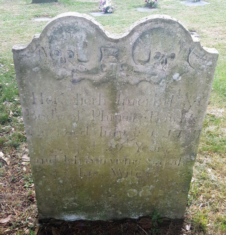 Gravestone of BOWLES Phineas 1747 | Dawn Sedgwick