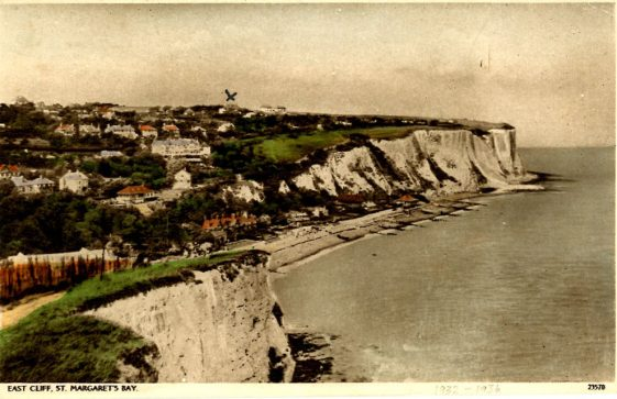 St Margaret's Bay from Ness Point. postmark 1936