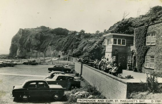 The Green Man, terrace and car park. c1950s