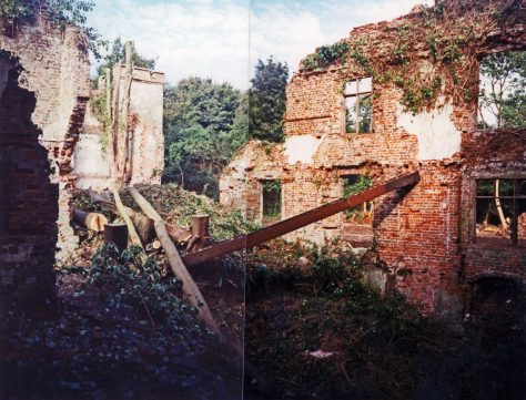 Clearance work at Oxney Court. October 1994
