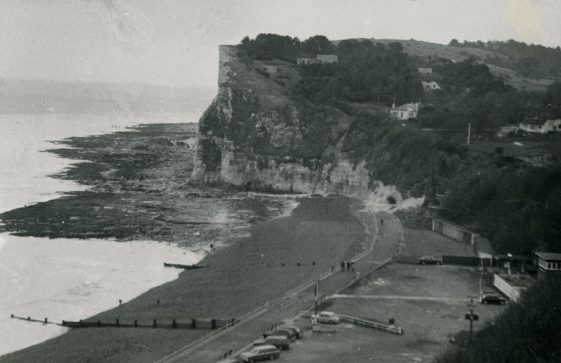Ness Point from the beach. 3 views. post 1950