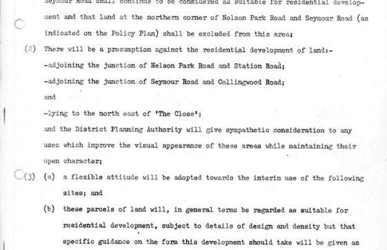 Interim Document 1 - Nelson Park Estate Supplementary Planning Guidance. 7 October 1981