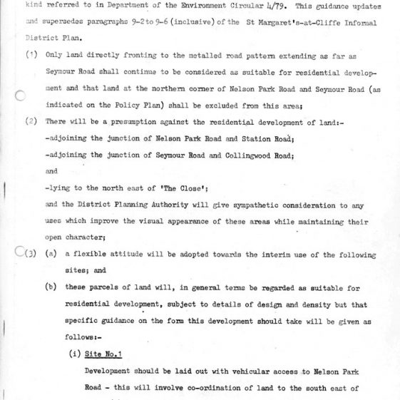 Interim Document 1 - Nelson Park Estate Supplementary Planning Guidance. 7 October 198