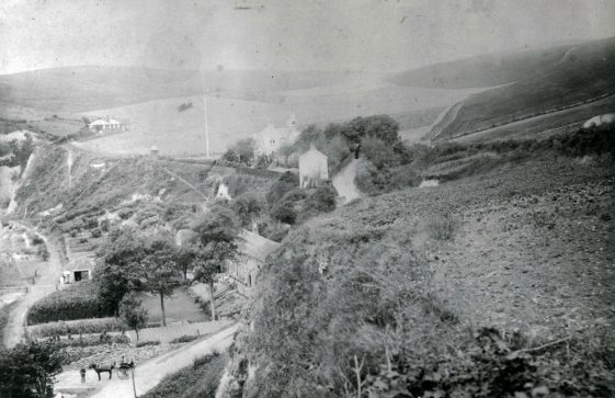 Looking towards The Green Man pub and the South Foreland Valley. c1900