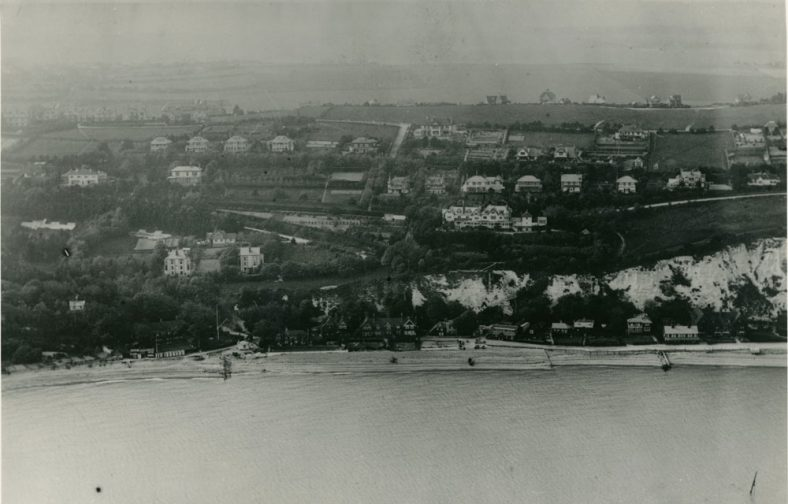 Aerial View from the sea of Granville Road, Hotel Road and the Bay prior to the 2nd World War. 1920/30