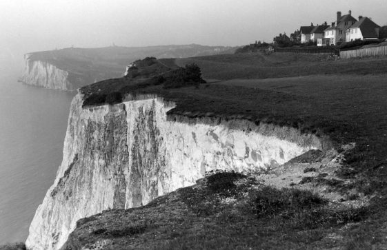East Cliff and Ness Point from The Leas. dated 1930.
