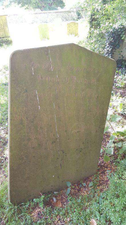 Gravestone  of TUCKER William 1851; TUCKER  son 1848; TUCKER Elizabeth 1870 | Dawn Sedgwick