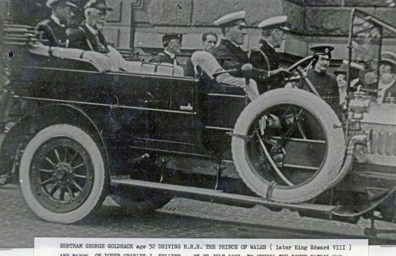 HRH the Prince of Wales being driven to the unveiling of the Dover Patrol Memorial on 27 July 1921