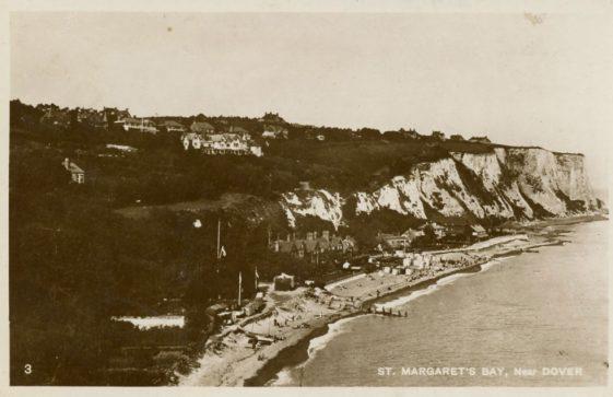 St Margaret's Bay from Ness Point.  postmark 1928
