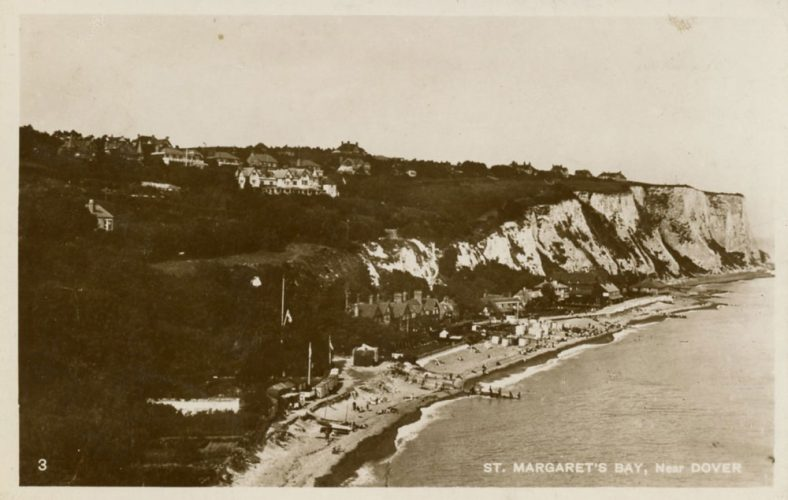 St Margaret's Bay from Ness Point. postmark 1928