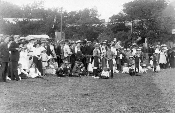 Spectators at St Margaret's Sports Day. 1911
