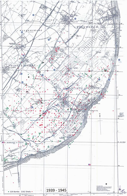 Bomb and shell sites in St Margaret's. 1939-45