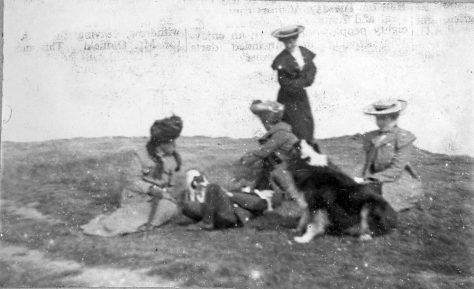 Group of people on the cliffs c.1905