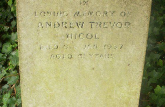 Gravestone of NICHOL Andrew Trevor 1987