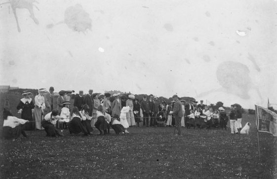 Girl's Tug-of-War at St Margaret's  Sports Day. 1908